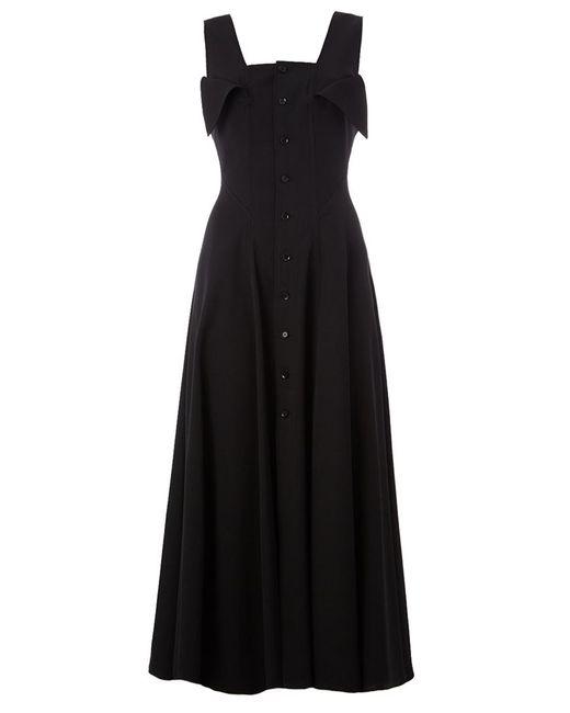 Yohji Yamamoto | Женское Чёрное Платье Миди