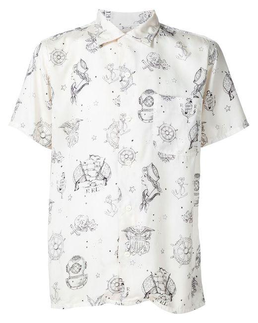 RRL   Мужское Белый Sailor Print Shirt