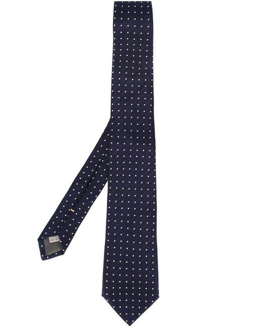 Canali | Мужское Синий Embroidered Polka Dot Tie