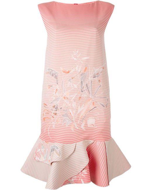 Giorgio Armani | Женское Розовое Платье С Эффектом Градиент