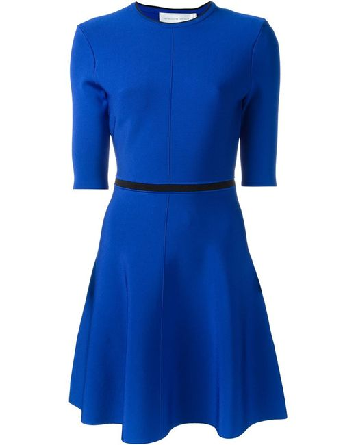 Victoria, Victoria Beckham | Женское Синий Open Back Detail Skater Dress