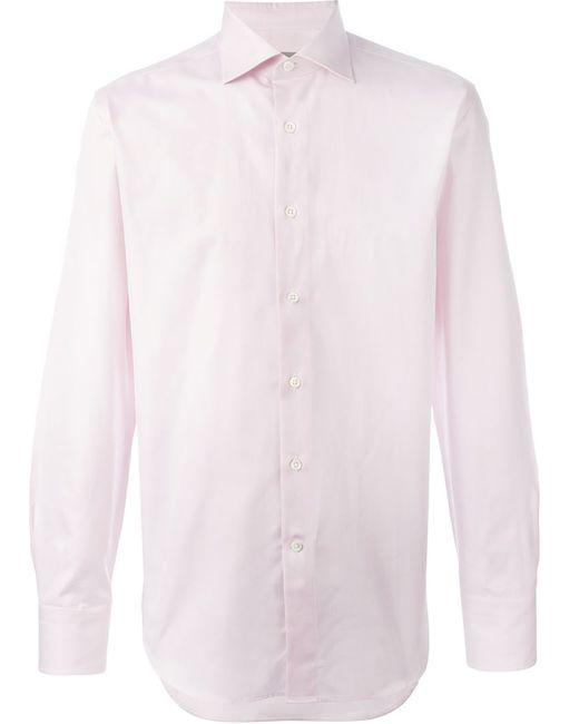 Canali | Мужская Розовая Классическая Рубашка