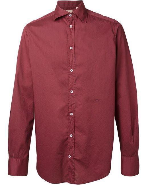Massimo Alba | Мужская Красная Рубашка Genova