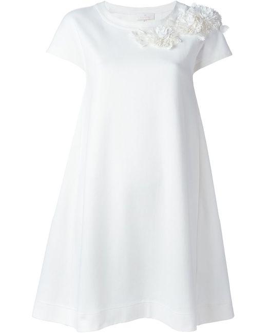 Roberto Capucci   Женское Белый Flower Appliqué Detail Dress