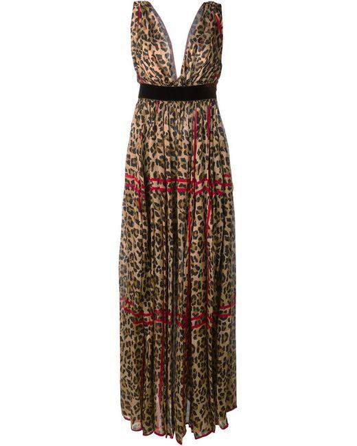 Dsquared2 | Женское Коричневый Crepe Leopard Print Gown