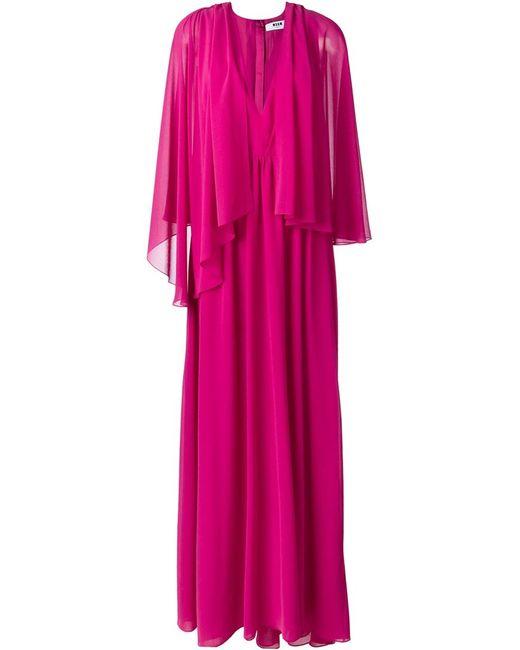 MSGM | Женское Розовое Плиссированное Платье
