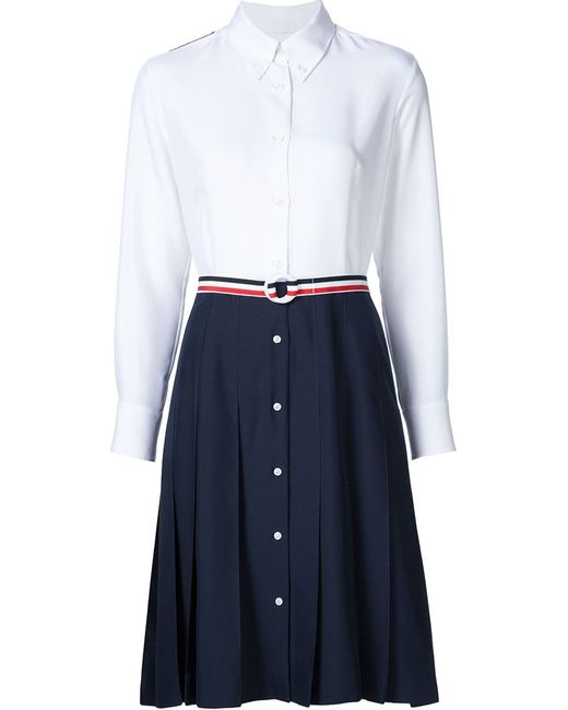 Thom Browne   Женское Белый Print Dress