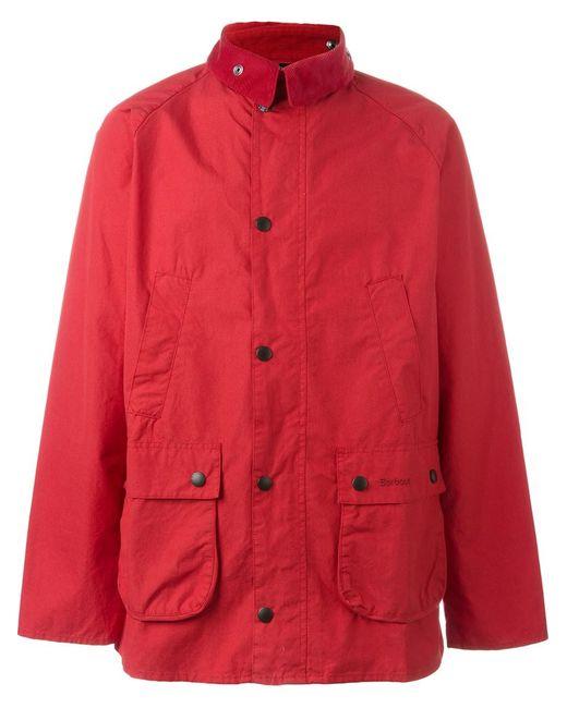 Barbour | Мужская Красная Куртка Washed Bedale