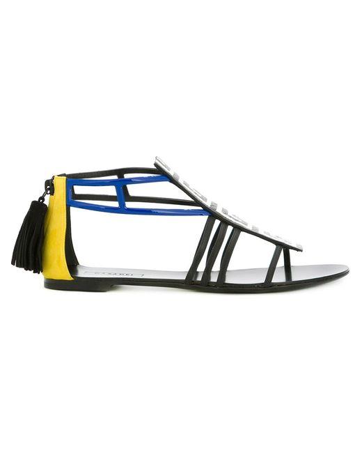 Casadei | Женское Чёрный Geometric-Pattern Sandals
