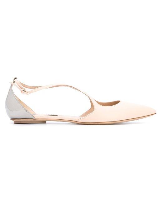 Casadei | Женское Розовый Two Tone Ballerinas