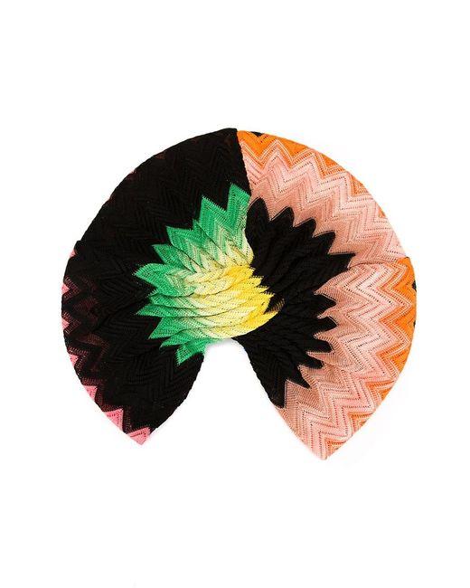 Missoni | Женский Многоцветный Трикотажный Тюрбан С Зигзагообразным Узором