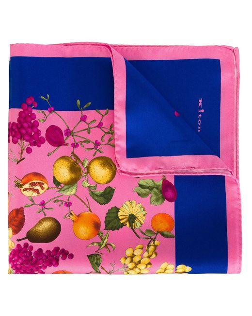 Kiton | Мужское Розовый Fruits Print Pocket Square