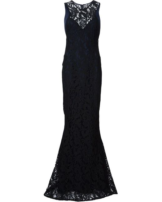 GALVAN | Женское Чёрный Heavy Lace Gown