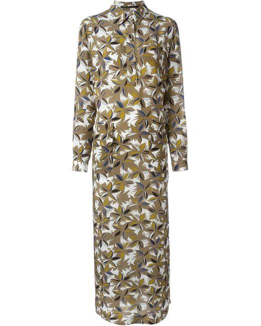 Agnona | Женское Nude & Neutrals Платье Макси С Цветочным Принтом