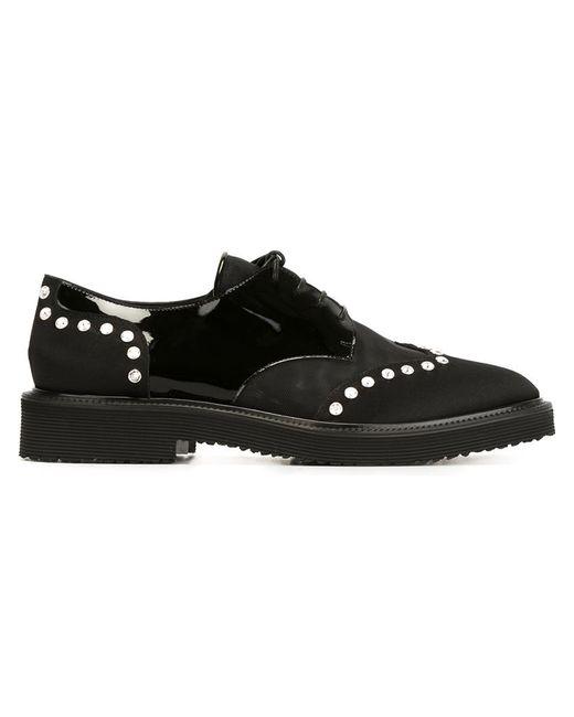 Giuseppe Zanotti Design | Женское Чёрный Embellished Lace-Up Shoes
