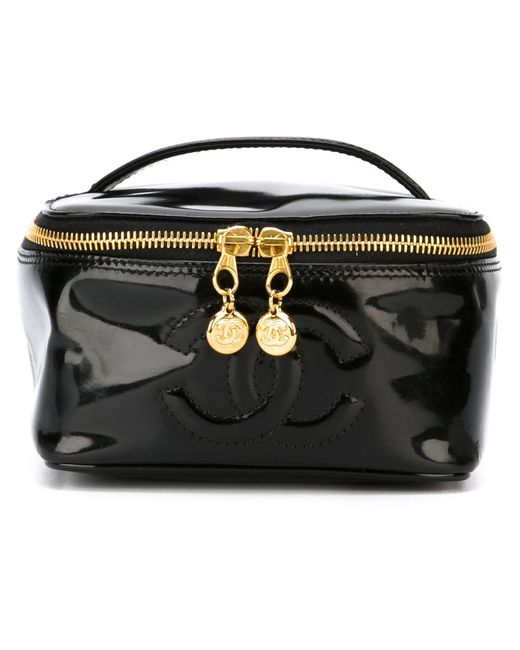 Chanel Vintage | Женский Чёрный Чемоданчик Для Косметики С Логотипом Cc