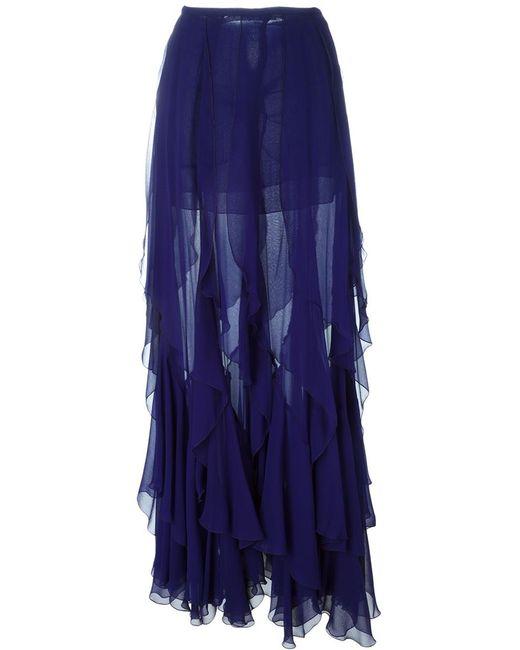 Plein Sud | Женское Синий Ruffled Long Skirt