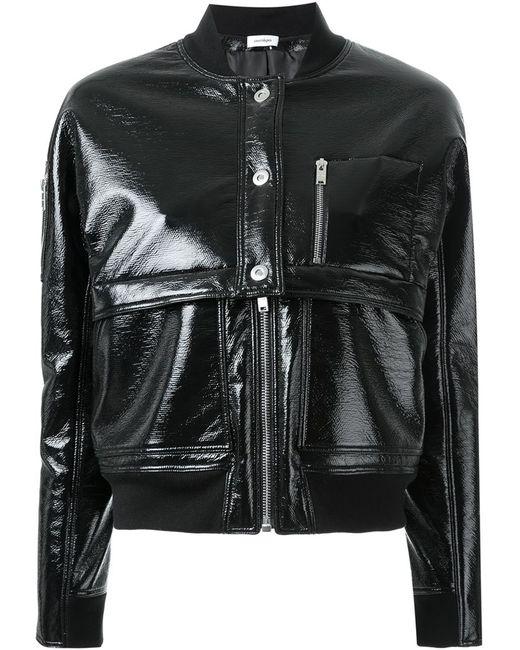 Courreges | Женская Чёрная Куртка-Бомбер Pockets