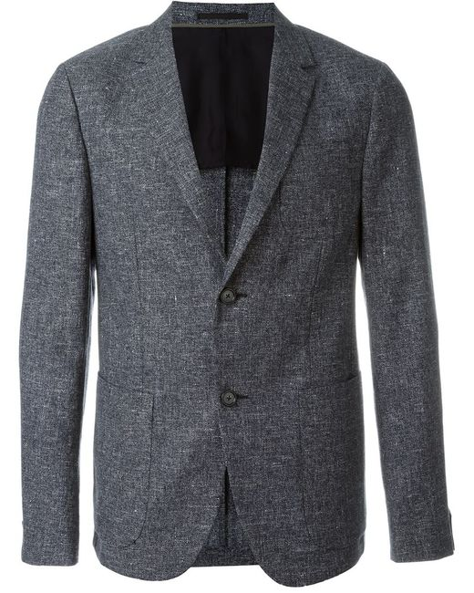 Z Zegna | Мужское Синий Textured Single Breasted Blazer