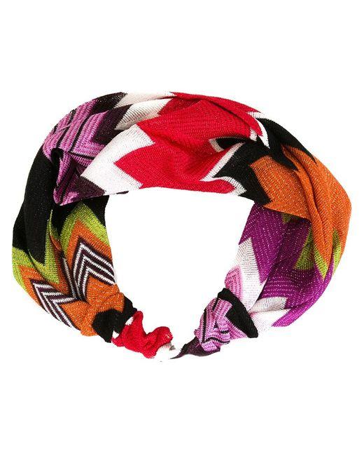 Missoni | Женская Многоцветная Головная Повязка С Узором-Ёлочкой