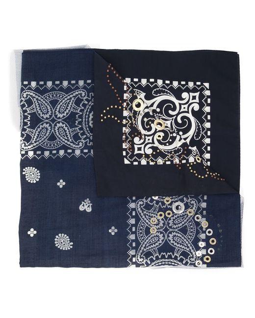 Sacai | Женское Синий Paisley Print Scarf