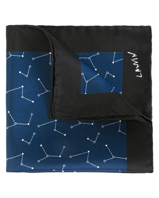 Lanvin | Мужской Синий Нагрудный Платок С Точечным Узором