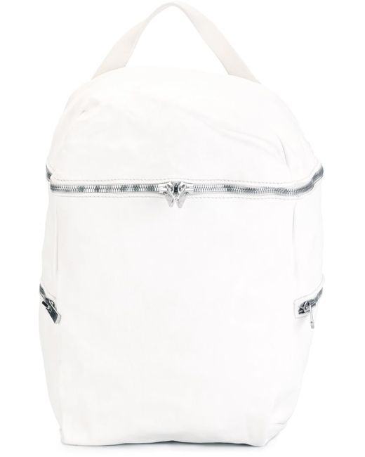 GUIDI | Женский Белый Рюкзак С Ручкой