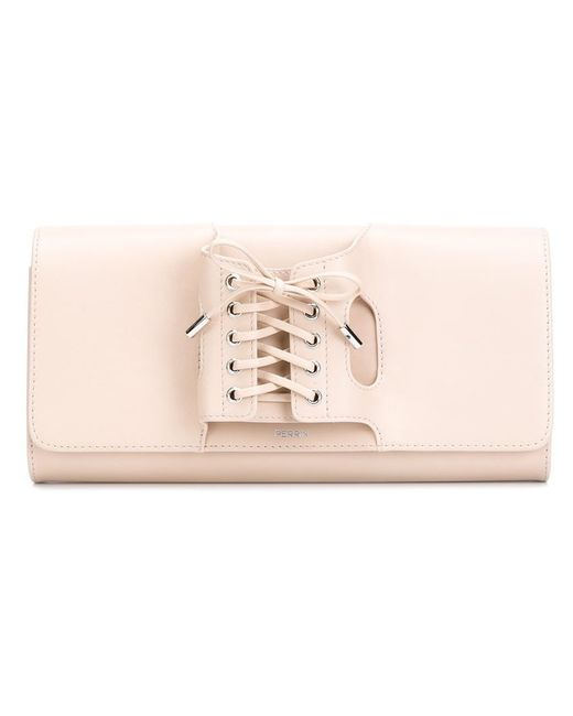 PERRIN PARIS | Женское Nude & Neutrals Tie Up Handle Clutch