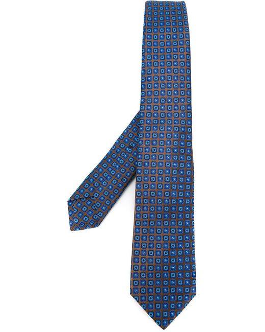 Kiton | Мужское Коричневый Geometric Pattern Neck Tie