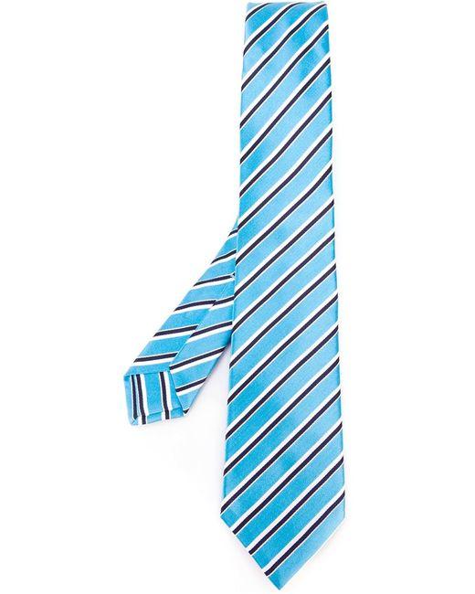 Kiton | Мужское Синий Striped Neck Tie