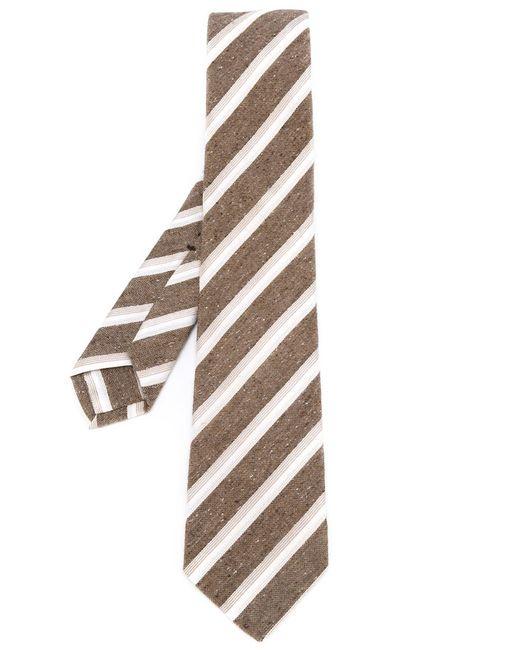Kiton | Мужское Коричневый Diagonal Stripes Tie