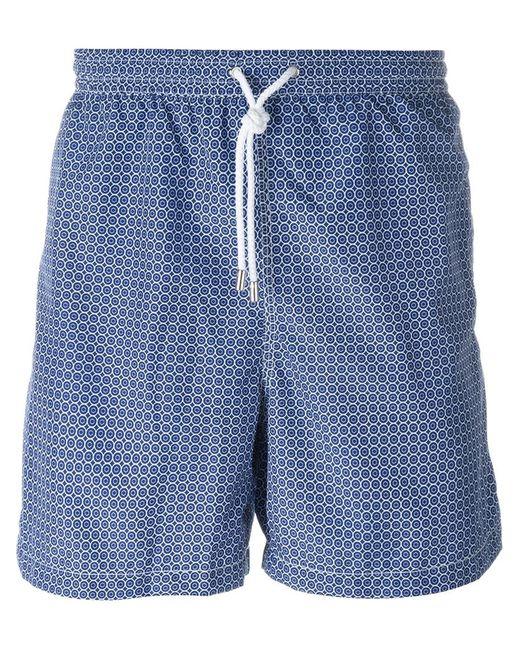 Kiton   Мужское Синий Geometric Print Swim Shorts