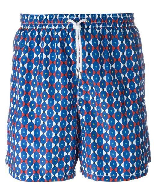 Kiton | Мужское Синий Groovy Print Swim Shorts