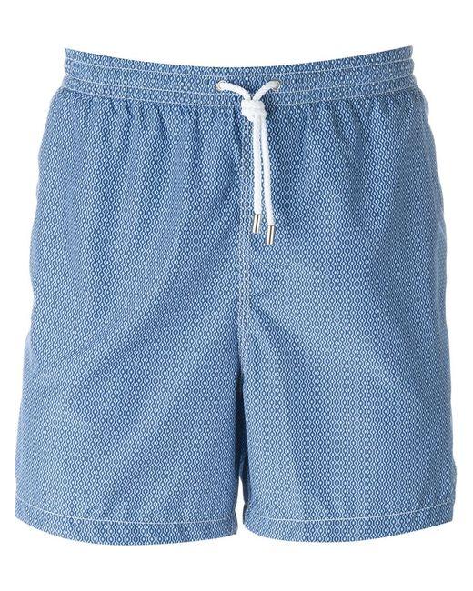 Kiton   Мужское Синий Wavy Print Swim Shorts