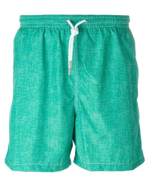 Kiton   Мужские Зелёные Плавательные Шорты С Джинсовым Эффектом