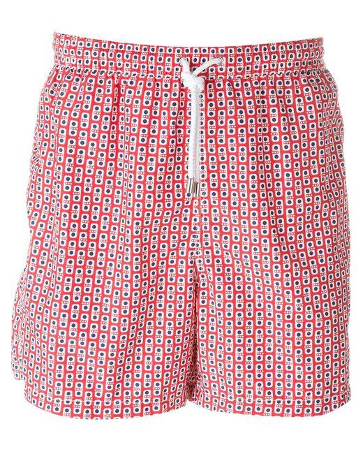 Kiton | Мужское Красный Dotted Print Swim Shorts