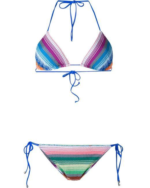 Missoni | Женское Многоцветное Полосатое Бикини С Треугольным Верхом