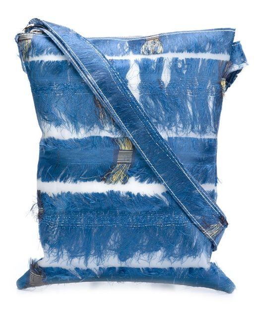 LUISA CEVESE RIEDIZIONI   Женское Синий Silk Fringe Crossbody Bag