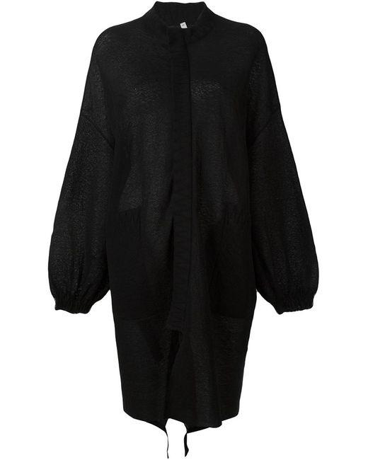 Boboutic | Женское Чёрное Вязаное Пальто