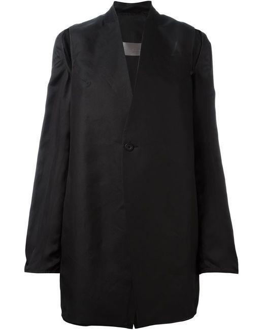 Rick Owens | Женское Чёрное Пальто С Вырезами