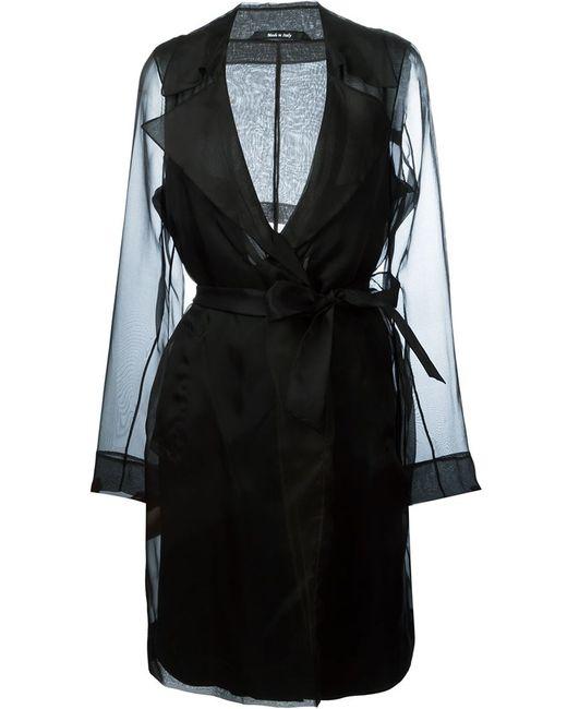 Maison Margiela | Женское Чёрный Semi-Sheer Trench Coat
