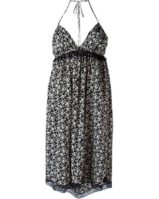Pascal Millet   Женское Чёрное Платье С Цветочным Принтом