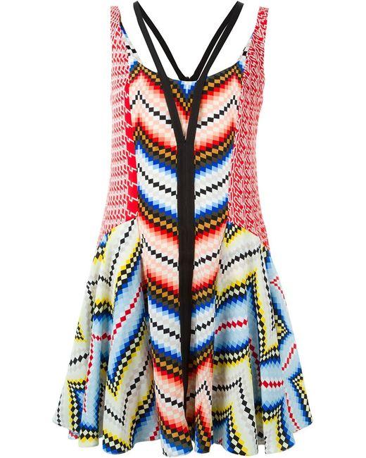 Kenzo   Женское Многоцветный Chevron Dress