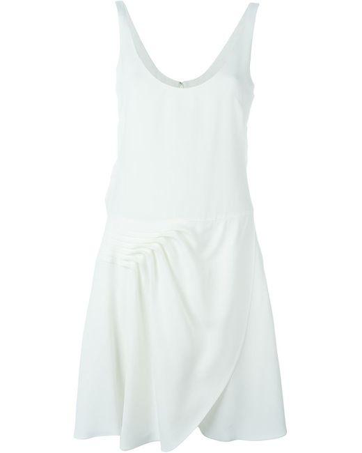 Emporio Armani   Женское Белое Платье С Глубоким Вырезом
