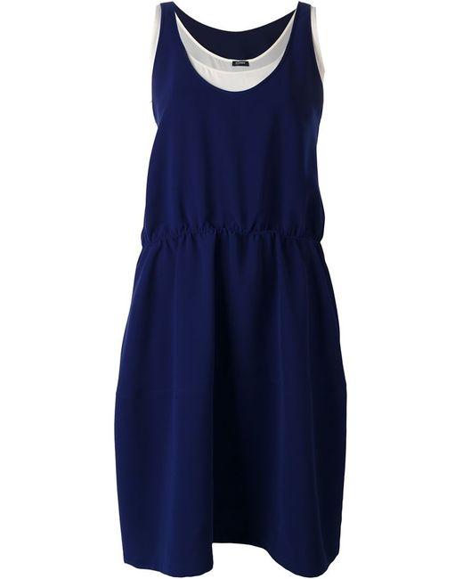 Jil Sander Navy | Женское Синее Двухслойное Платье