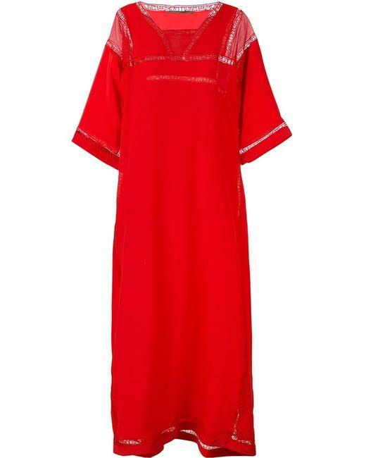 Ermanno Scervino | Женское Красный Lace Detail Beach Dress