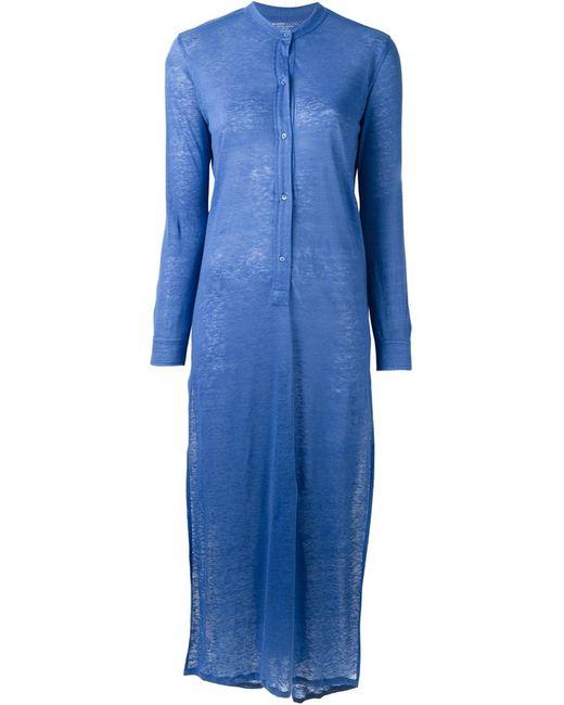 MAJESTIC FILATURES   Женское Синее Длинное Трикотажное Платье
