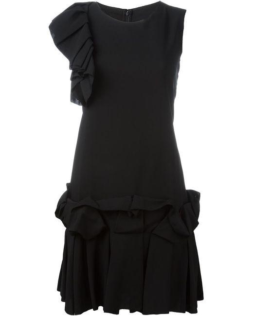 Gianluca Capannolo | Женское Чёрный Ruffle Detail Mini Dress