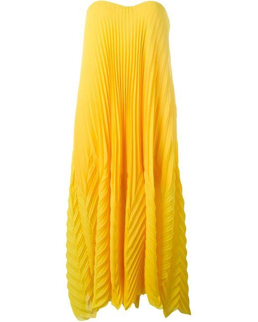 MSGM | Женское Желтый Strapless Pleated Dress