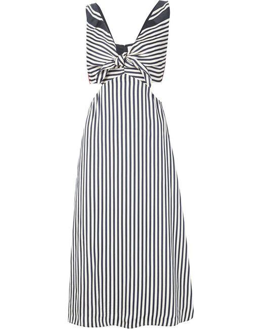 Misha Nonoo | Женское Чёрное Полосатое Платье Lexa